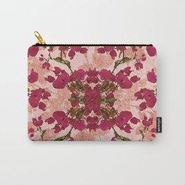 Retro Vintage Floral Motif Carry-All Pouch
