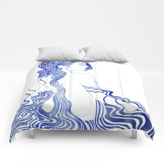 Water Nymph XV Comforters