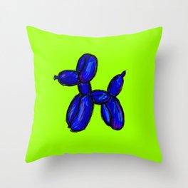 Doggy - blue & green Throw Pillow