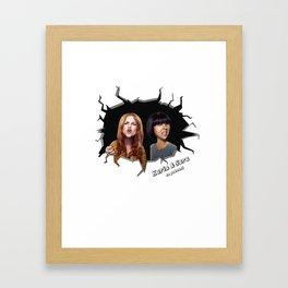 Karin & Sara Framed Art Print