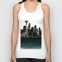 seattle Tank Tops featuring Seattle by WyattDesign