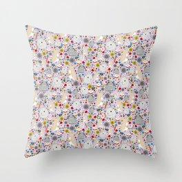 Pretty Bunny Rabbits Throw Pillow