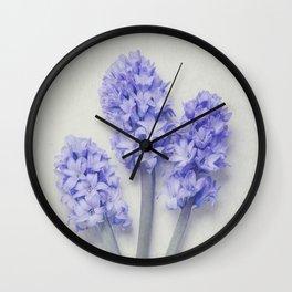 Bright Lilac Hyacinths Wall Clock