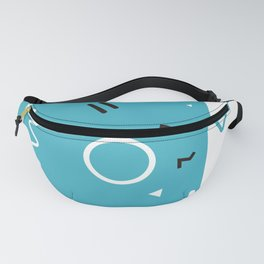 Seattle 1988 - Memphis Throwback Retro 1980s 80s Trendy Hipster Pattern Blue White Fanny Pack