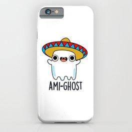 Ami-ghost Cute Halloween Cute Amigo Ghost Pun iPhone Case