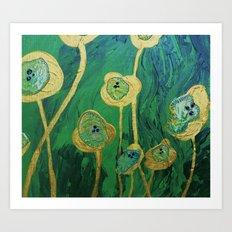 Lotus Blossoms in the Swamp Art Print