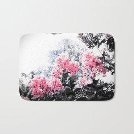 Pink Flowers Pop of Color Bath Mat