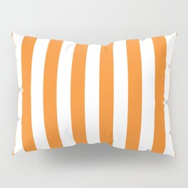 Vertical Orange Stripes Pillow Sham