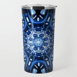 Jade Mandala - Blue-02 Travel Mug