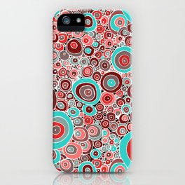 Poppies in the rain iPhone Case