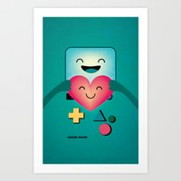 bmo Art Prints featuring BMO  by Milli-Jane