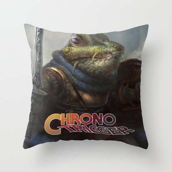 A knightly Frog  Throw Pillow