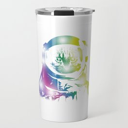 Cat Space Outerspace Galaxy Cats Kittens Owners Feline Mammal Kitty Animal Lovers Gift Travel Mug