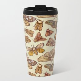 Moth Pattern Metal Travel Mug