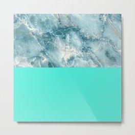 Sea Blue Marble Metal Print