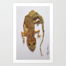Gecko Mummy Art Print
