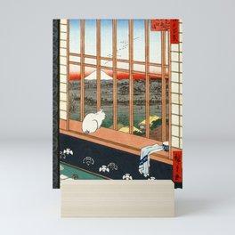 Hiroshige Asakusa Ricefields and Torinomachi Festival Mini Art Print