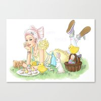 easter Canvas Prints featuring Easter by Lotty