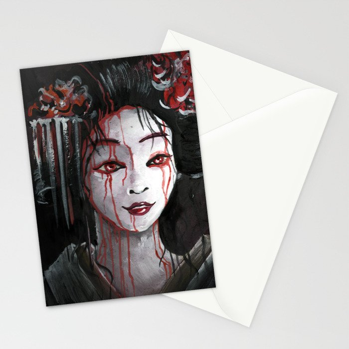Geisha in Blood: The unwiling Concubine Stationery Cards