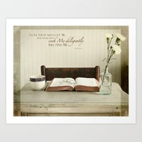 Study His Word Art Print