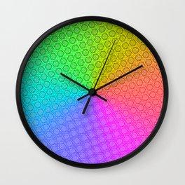 d20 Prismatic Spray Critical Hit Pattern Wall Clock