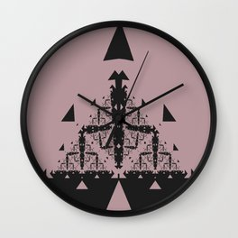 Pyramid Pattern Wall Clock