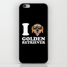 I Love Golden Retriever modern v2 iPhone Skin