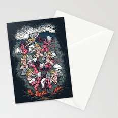 good vs evil  Stationery Cards