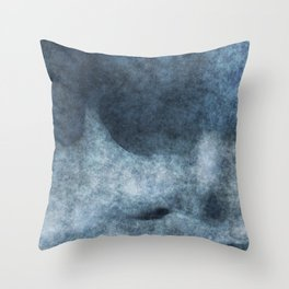 stained fantasy misty mountain Throw Pillow
