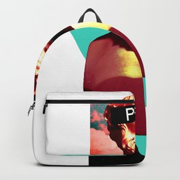 Vaporwave Statue Aesthetic Play Bust 1980 Surreal Glitch art design Backpack