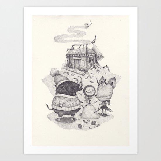 neige Art Print