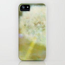 Dandelion Wishes Yellow iPhone Case