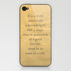 It is a truth universally acknowledged... iPhone & iPod Skin