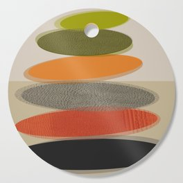 Mid-Century Modern Ovals Abstract Cutting Board
