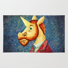 Pointillism Unicorn Rug