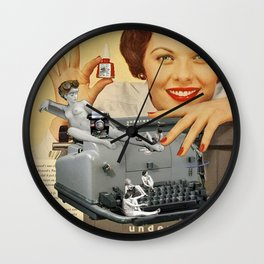 Friday Night in the Typing Pool Wall Clock