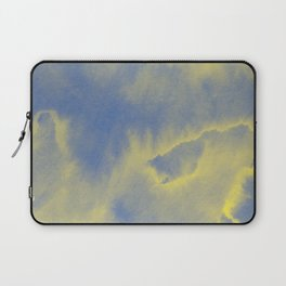 Watercolor texture - grey and yellow Laptop Sleeve