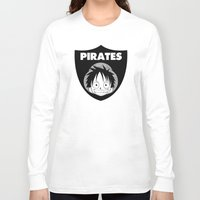 pirates Long Sleeve T-shirts featuring Pirates  by Buby87