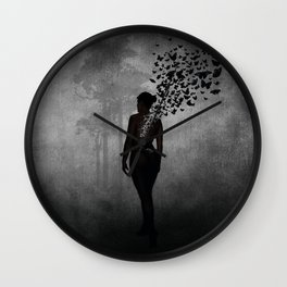 The Butterfly Transformation Wall Clock