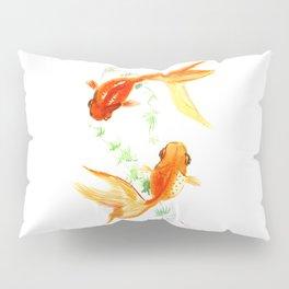 Goldfish, Feng Shui Asian Watercolor Pillow Sham