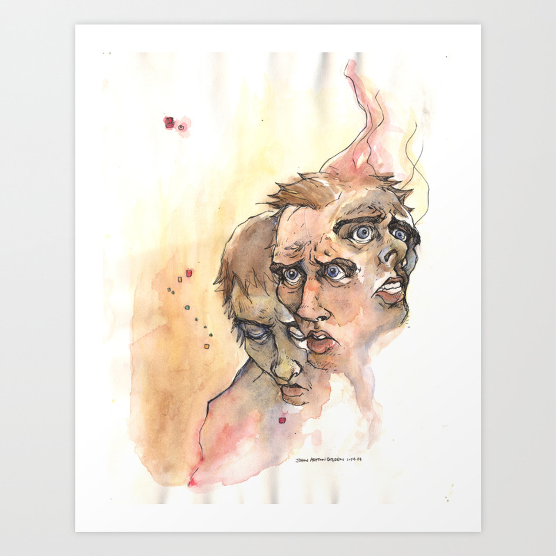 Stress Anxiety Depression Art Print By Johnashtongolden Society6