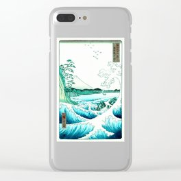 The Sea at Satta : Aqua Teal Clear iPhone Case
