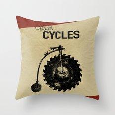 Vicious Cycles Throw Pillow