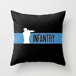 Infantry Blue Throw Pillow