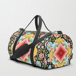 Geometric Chintz Mandala Duffle Bag