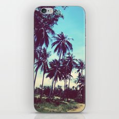 Road of palm trees iPhone Skin