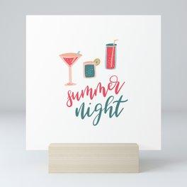 Summer Night Lettering Mini Art Print