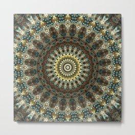 Gorgeous Earth Jewel Mandala Metal Print