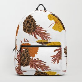 Brown Autumn & Pines Backpack