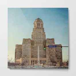 Down Town City Hall Buffalo NY Metal Print